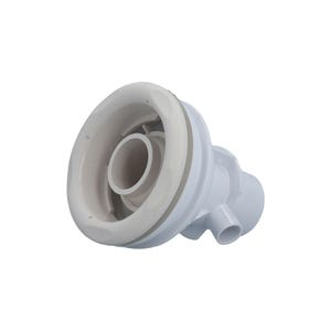 """Jet Complete Directional, 1/2"""" Slip Air x 2"""" Slip Water, Straight Body, 5-Scallop , White"""