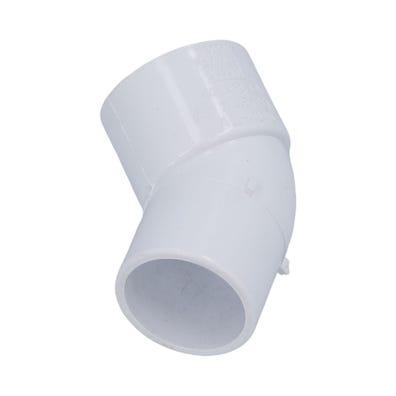 """PVC Fitting PVC, 45°, 1-1/2""""S x 1-1/2""""Spg"""
