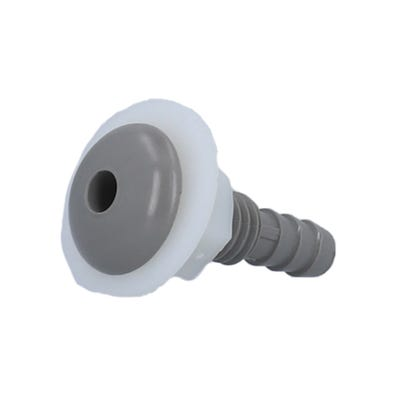 """Air Injector Complete Button Style, 1/4"""" Barb, Gray"""