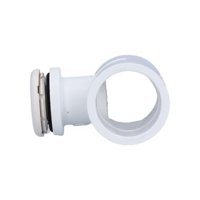 """Air Injector Complete Lo-Profile, Tee, 1"""" Slip, White"""