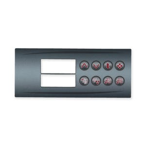 HT2 Series Keypad Overlay Overlay, Spaside, HydroQuip HT2, 8-Button, Pump1-Pump2-Blower/Aux, For 34-0190