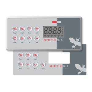 Electronic Keypad 2 Overlays Included, 7 & 8-Button, 10' Cable