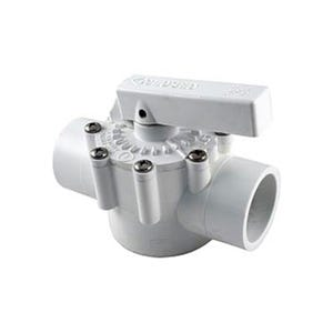 "Diverter Valve 1-1/2""S(2""Spg)2 Port,PVC"