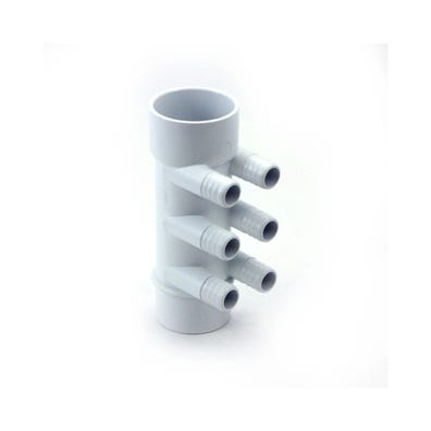 "Plumbing Manifold 2""S x 2""Spg x (6) 3/4""RB Ports"