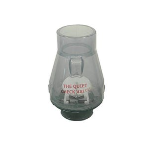"""Check Valve 1/2lb Spring, 2""""S x 2""""S, Clear"""