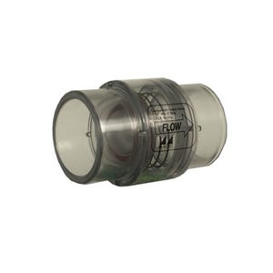 """Check Valve 1/4lb, 1-1/2""""S (2""""Spg) Clear"""