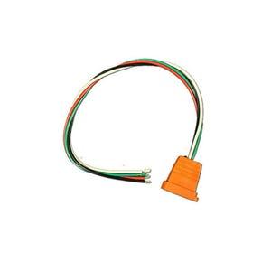 Receptacle Orange, 18/4, Fiber Optics