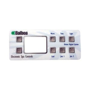Keypad Overlay Overlay, Spaside, Balboa Deluxe Digital, 8-Button, Jets-Jets, For 51226