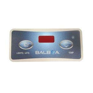 Keypad Overlay Overlay, Spaside, Balboa Lite Leader, 2-Button, Light/Jet-Temp, For 51705,51538,54136