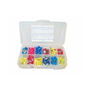 Wire Terminal Kit 200 Pieces, Assorted Sizes