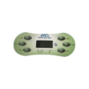 Keypad Overlay Overlay, Spaside, Artesian, South Seas, VL620S, 6 Button, 2-Pump