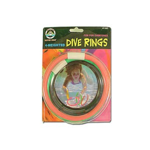 Game Dive Rings, 4 Pack, Assorted Colors