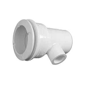 """Poly Jet Jet body Straight Body, 1-1/2""""S Water x 1/2""""S (1""""Spg) Air, 2-5/8"""" Hole Size w/ Wall Fitting"""