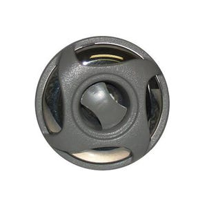 """Cluster Storm Jet internal Dual Rotating, 2"""" Face, Swirl, Gray/Stainless"""