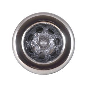 "Power Storm LED Jet internal Jet Internal, Waterway Power Storm, LED, Directional, 5"" Face, Smooth, Black/Clear"