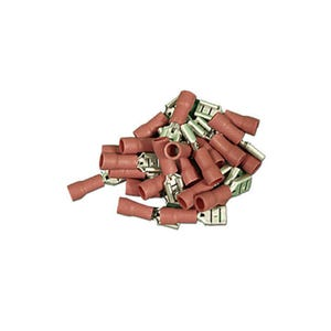 Wire Terminal .187, 22-16 Gauge, Red, 25 Pack
