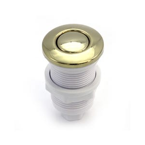 Air Button Polished Brass, flush mount