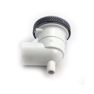 """Low Profile suction assemblies VGB, Low Profile, 4""""Diameter, White w/ 90°"""