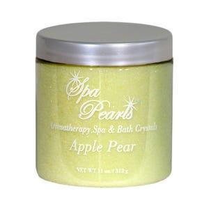 Aroma Fruit Crystals Spa & Bath Pearls, Apple Pear, 11oz Jar