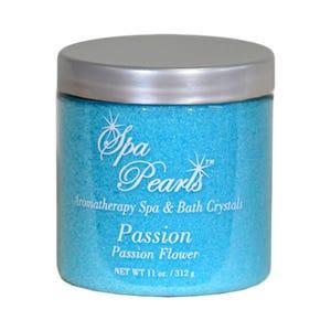 Aroma Floral Crystals Spa & Bath Pearls, Passion Flower, 11oz Jar