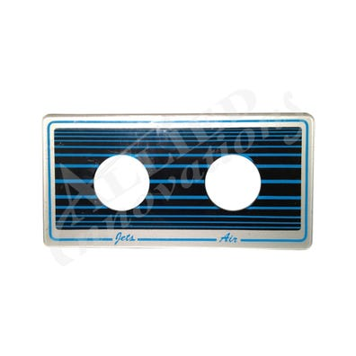Keypad Overlay Overlay, Spaside, Spa Builders, Blue/Black, 2-Button, Air -Jets