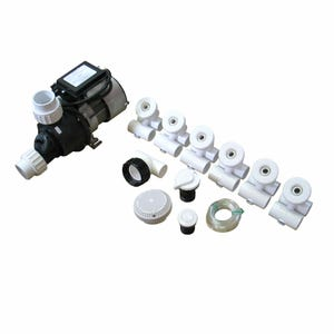 Bath Pump Plumbing Kit Plumbing Kit, .75 HP Pump, White