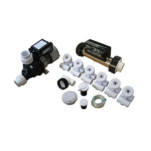 Plumbing Bath Kit w/0.75HP Bath Pump & In line Heater