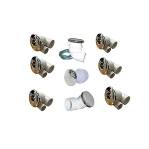 Jet Misc Parts Pumbing Kit, Jet, Hydrabath Futura, Chrome
