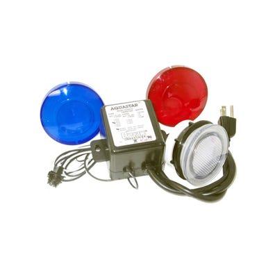 Lens kit 115/12V w/3 Lens, Clear/Blue/Red, Nema Plug
