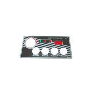 Keypad Overlay Overlay, Spaside, Tecmark Command Center, 4-Button w/Display, For CC4D-120-10-I00 & 230V Version