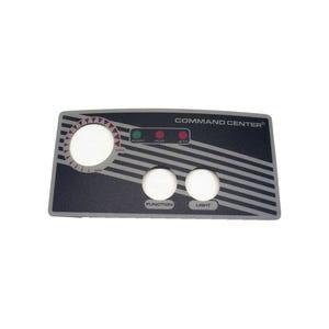 Keypad Overlay Overlay, Spaside, Tecmark Command Center, 2-Button, No Display, For CC2-120-10-I-00 & 230V Version
