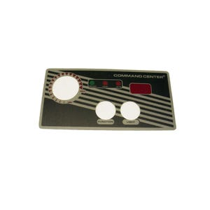 Keypad Overlay Overlay, Spaside, Tecmark Command Center, 2-Button w/Display, For CC2D-120-10-I-0 & 230V Version