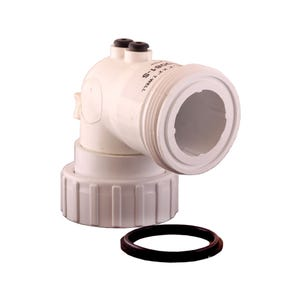 "Thermowell Thermowell, HydroQuip, PVC, 90° Ell, 2""MBT x 2""FBT w/Air Bleed"