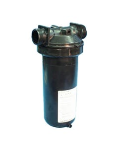 """In-Line Filter In-Line, 50 Sq Ft, 1-1/2""""MBT w/ By-Pass valve, w/ Cartridge"""