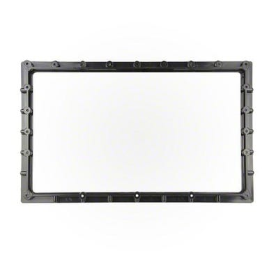 Front Access Filter Mounting Plate 100 Sq Ft,Skim,Blk