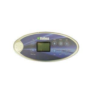 """VL802D Electronic Keypad 8BTN,LCD,Oval,7' Cbl,Top:(TIME-UP-BLWR-LT)Btm:(MODE-DN-JETS-JETS)10.3"""" x 4.6"""""""