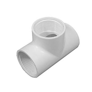 """PVC Fitting 1-1/2""""FPT x 1-1/2""""FPT x 1-1/2""""FPT"""