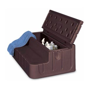 "Spa Step Storage Steps, Sage, Height 17"" Width 42"" Depth 27"""