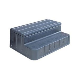 "Spa Step Storage Steps, Black, Height 17"" Width 42"" Depth 27"""