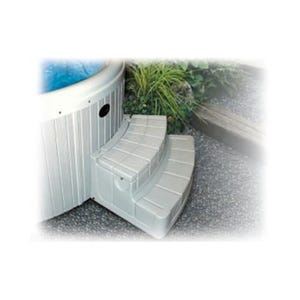 "Spa Step Storage Steps, Gray, Height 17"" Width 42"" Depth 27"""