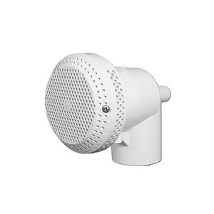 "Hi-Flo suction assemblies 3-3/4""Dia Cover, 1-1/2""S, 90° Ell w/Vacuum Break, White"