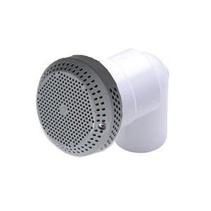 "Hi-Flo suction assemblies 3-3/4""Dia Cover, 1-1/2""S, 90° Ell w/Vacuum Break, Gray"