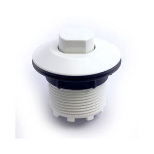 Air Button White, hex style