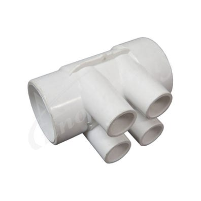 "Plumbing Manifold 2""Slip x 1-1/2""Spigot x (4) 1/2""Slip Ports"