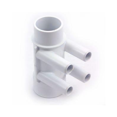 "Plumbing Manifold 1-1/2""S x 1-1/2""Spg x (4) 3/4""SB Ports"