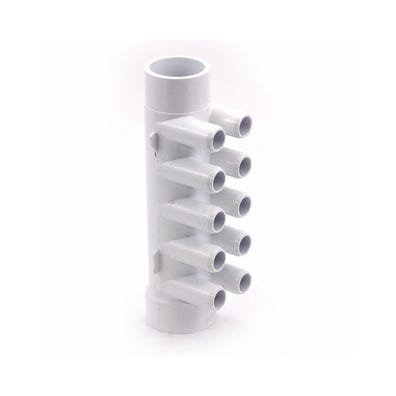 "Plumbing Manifold 1-1/2""S x 1-1/2""Spg x (10) 3/4""SB Ports"