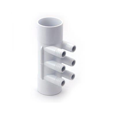 "Plumbing Manifold 2""S x 2""S x (6) 3/4""RB Ports"