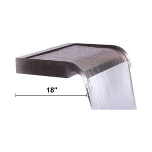 """Waterfall 7"""", (2) 3/4""""B Ports, Stainless Steel / Gray"""