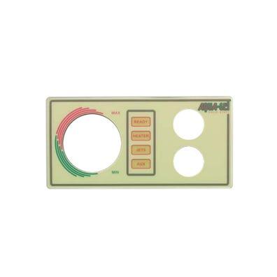 Aquaset Keypad Overlay 2-Button, No Display, For 930630-516 & 930726-516