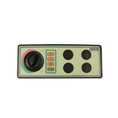 "Pneumatic Keypad 115V, 4-Button, No Display w/Overlay, 8-1/4"" x 3-5/16"""